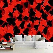 Kuamai Tapete Für Wände 3D Schöne Mode Rot