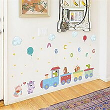 kuamai Tiere Zug Englisch Schreiben Ballon Wand