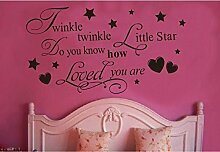 kuamai Twinkle Little Star Vinyl Tapetensticker