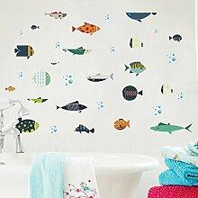 kuamai Unterwasser Cartoon Fisch Dekorative Wand