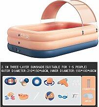 KUANDARM Aufblasbarer Pool Für Alter 3+,Tragbar