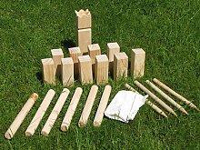 Kubb Holz Garten Spiel Wikinger Kegel Schach