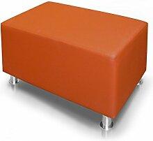 KUBO Sitzwürfel Bandscheibenhocker Sitzhocker Fußhocker in orange 90x45x45 cm, orange