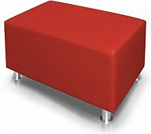 KUBO Sitzwürfel Bandscheibenhocker Sitzhocker Fußhocker in rot 90x45x45 cm, ro
