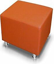 KUBO Sitzwürfel Kunstleder 45 cm, orange