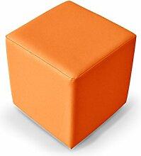 KUBUS Bequemer Sitzwürfel Kunstleder 35x40x35 cm, orange