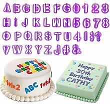 Kuchen Buchstaben,40 Teilig Fondant Buchstaben