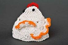 Kuchen Zubehor handmade Hakel Accessoire Ostern Geschenk Huhn Ostern Dekoration