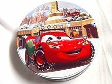 Kuchendose ,Keksdose, Weihnachts- Disney CARS Gebäckdosen,Gebäckdose,Plätzchendose Vorratsdose Stahlblech rund 20,5 cm
