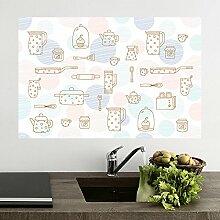 Küche anti-Öldämpfe aus der Oberfläche temperaturbeständig Aufkleber Fliesen- glas Stick mit der wasserdichten Wand Extraktoren ölbeständige Aufkleber 90 * 60 cm, Hwayang Yonhwa