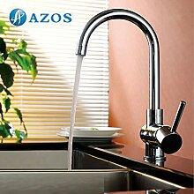 Küche Armatur Messing Single Loch Deck Mount Chrome polish hot und cold Water Mischbatterie cflr007