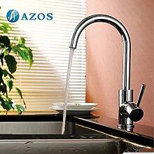 Küche Armatur Messing Single Loch Deck Mount Chrome polish hot und cold Water Mischbatterie cflr038–1