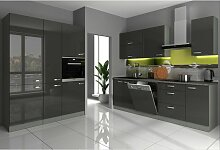 Küche Bianca II 240+160 Küchenzeile Hochglanz