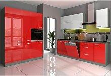 Küche Bianca VI 240 + 160 cm Küchenzeile in