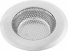 Küche Boden Abfluss Waschbecken Edelstahl Maschen Filter Sieb 11.3cm Außen-Dmr