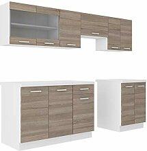 Küche Dave 240 cm Küchenzeile / Küchenblock