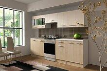 Küche Dominika 240 cm Küchenzeile / Küchenblock