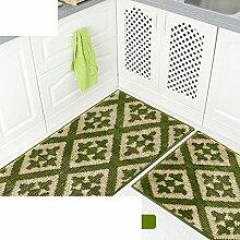 Küche-fußmatten/Bar,Öl-absorbierende,Von Mats/Bad-antirutsch-matten/Maschine Waschbare Matten-J 43x98cm(17x39inch)