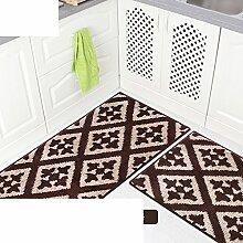 Küche-fußmatten/Bar,Öl-absorbierende,Von Mats/Bad-antirutsch-matten/Maschine Waschbare Matten-E 43x178cm(17x70inch)