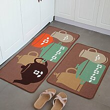 Küche-Fußmatten/Fußmatte/Küche Bar Matte/Matten in der Halle/Tür Matte saugfähige Matte-A 50x120cm(20x47inch)