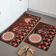 Küche-Fußmatten/Fußmatte/Küche Bar Matte/Matten in der Halle/Tür Matte saugfähige Matte-C 50x80cm(20x31inch)