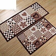 Küche-Fußmatten/Lange Skid saugfähigen Eingang Tür Fußmatten/Osmanen/ Schlafzimmer Bett Badematte-K 50x80cm(20x31inch)