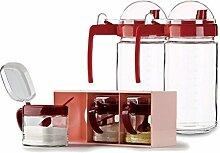 Küche Gewürzglas Condiment Box Set Glas Krug Öl