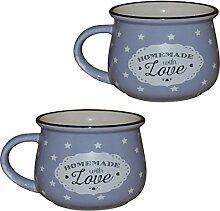Küche / Haushalt Kaffeebecher Modell 8 mit Sternen 2er-Pack lila + lila 330 ml