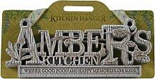 Küche Kleiderbügel Küche Plaque-Amber