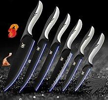 Küche kochen Edelstahl Messer Werkzeuge Black