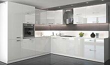Küche L Form Hochglanz 280 cm x 300 cm ohne E-Geräten.