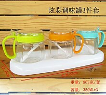 Küche liefert Menage Set Glas Doppelte Dressing