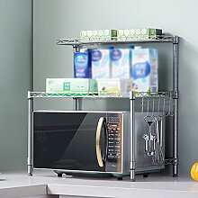 Küche Mikrowelle Rack / Regal / Würze / Bad Lagerung Regal ( Farbe : Silber )