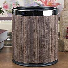 Küche Mülleimer Haushalt Büro Mülleimer Doppel J Metall Badezimmer ohne Deckel 10L ( Farbe : E )