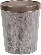 Küche Mülleimer Holzmaserung Dekorative runde