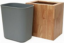 Küche Mülleimer Rechteckige hölzerne Mülleimer
