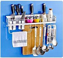 Küche Multifunktionale Aluminium Rack Organizer Regale Wand hängende Gewürz Rack Flaschen Racks (Modell A)