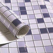 Küche Ölbeständig selbstklebende Aufkleber Folie Fliesen Fliesen wasserdicht Rauch Herd Schrank Glas Aufkleber ist 3 m lang und 0,6 m breit (1,8 M*L), E
