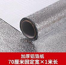 Küche Rauch Wasserfeste Selbstklebende Sticker An Der Wand Fliesen Tabelle Kabinett Schublade Pad Papier Sub Hohe Temperatur Angebracht, Alufolie, 70 Cm*1 M,