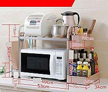 Küche Regal / Mikrowelle Lagerung Regal / Würze Tank Rack / 1F Küchenartikel Edelstahl Rack