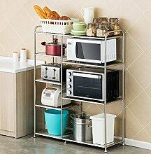 Küche Regal / Mikrowelle Rack / Regal / Boden Edelstahl Regal Bäckerei / Küchenutensilien ( größe : 99*37*105CM )