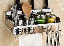 Küche Regal Wand hängende Messer Rack Anhänger Lagerung Rack Gewürz ( stil : B2 )