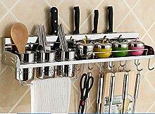 Küche Regal Wand hängende Messer Rack Anhänger Lagerung Rack Gewürz ( stil : E2 )