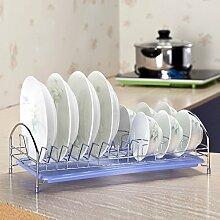 Küche Regal Wasser Geschirrständer Rack - Regal Drainboard Schüssel Aktivitäten,Blauer Himmel