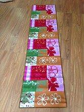 Küche Teppich 57x 230Orange Blumen Grün Pink