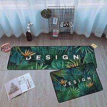 Küche Teppich Matte Grün Pflanzen Design, 2
