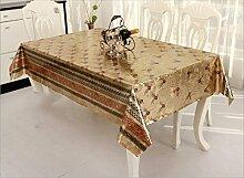 Küche Tischdecke Einfache Stoff Tischdecke Wasserdichte Öl Tabelle Flagge kann gewaschen werden Tischdecke Tisch Matten ( größe : 137*240CM )