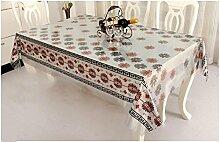 Küche Tischdecke Einfache Stoff Tischdecke Wasserdichte Öl Tabelle Flagge kann gewaschen werden Tischdecke Tisch Matten ( größe : 137*150CM )