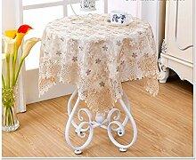 Küche Tischdecke Kleine Runde Tisch Tuch Stoff Runde Tisch Tuch Spitze Kaffee Tischtuch Wohnzimmer Tisch Tischdecken ( Farbe : C , größe : 120*120cm )