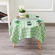 Küche Tischdecke Leinen Tischdecke, runder Tisch Rechteck Tischtuch Tischdecke Couchtisch Abdeckung Stoff Dicker Ländliches Tuch ( Farbe : 4# , größe : 100*140CM )